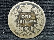 Victoria, Silver (.925), Young Head One Shilling 1865 (Die 109), Fair, AM53